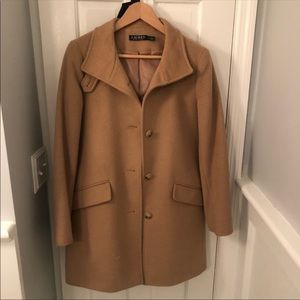 Ralph Lauren Single Breasted Reefer Coat